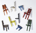 "Sectional chairs (set of 9) | 9"" x 3"" x 3"" each Fabricated steel"