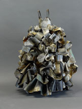 "Ruffled dress | 22"" x 16"" x 14"" Forged and fabricated steel"